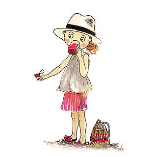 ©angelagstalter kidsillustration, childrensbookillustration, girls fashion illustration