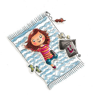 ©angelagstalter kidsillustration, childrensbookillustration, new shoes