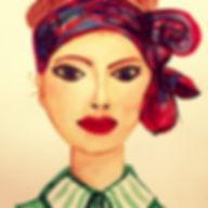 ©angelagstalter fashion illustration watercolour