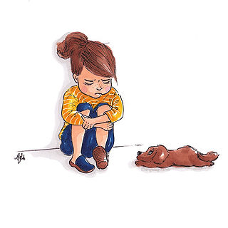 ©angelgstalter kidslitart, childrenillustration, kinderbuchillustration, cute, sad illustration