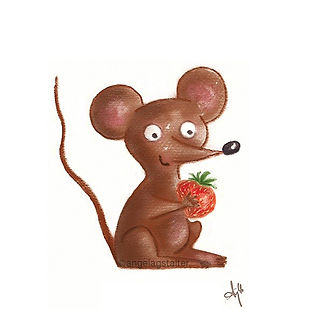 ©angelagstalter kidsillustration, childrensbookillustration, mouse illustration, digitalart