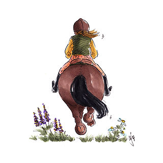 ©angelagstalter ,kidsillustration, riding, horse, illustration, childrensbookillustration