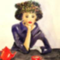 ©angelagstalter fashion illustration, watercolour, editorial illustration, fifties, tea time