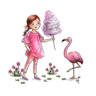 ©angelagstalter kidsillustration, childrensbookillustration, pink, flamingo illustration