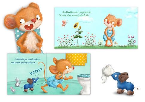 Picobello Mäuschen Band 1 Klo Kinderbuch Pappbilderbuch ©Baumhaus Verlag