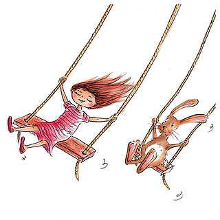 ©angelagstalter kidsillustration, childrensbookillustration, swinging