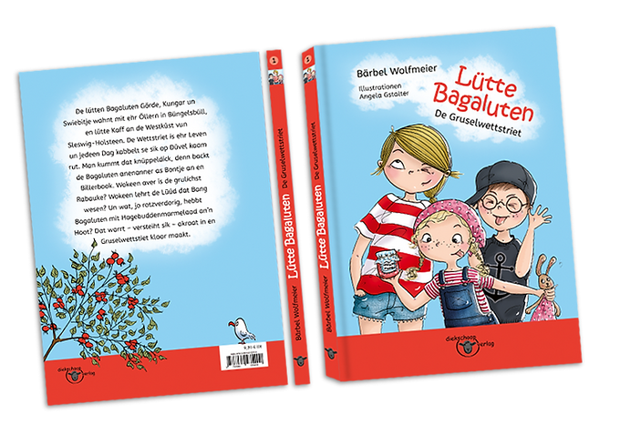 Lütte Bagaluten Cover design, character design, Kinderbuchillustration, children's book illustration, published children's book, ©angelagstalter  ©diekschoopverlag