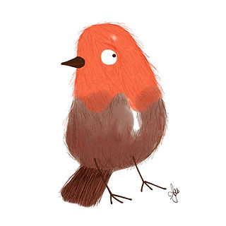 ©angelagstalter , robin illustration, cute bird illustration, kidslitart, character design, childrensbookillustration,