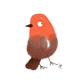 ©angelagstalter kidsillustration, childrensbookillustration, robin illustration, cute bird illustration