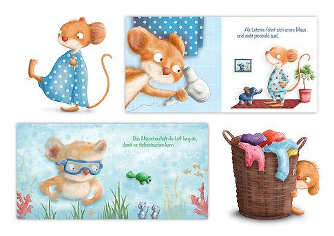 Picobello Mäuschen Band 1 Baden Kinderbuch Pappbilderbuch ©Baumhaus Verlag