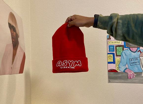 asymcloud beanie - red