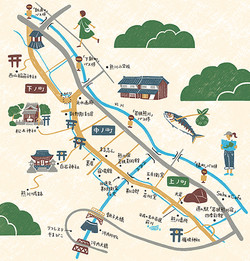 熊川宿マップ