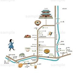 永平寺町イラストマップ