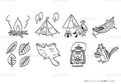 キャンプのカットイラスト