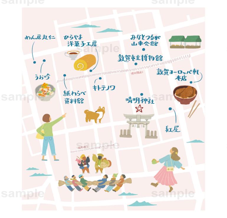 相生町イラストマップ