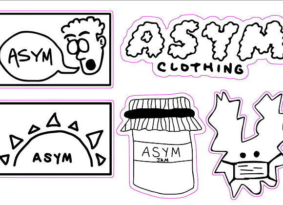 asym sticker sheet