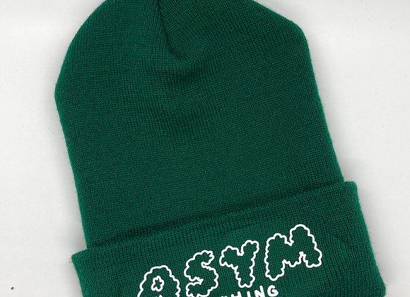 asymbeanie- green