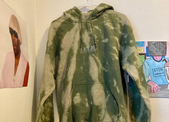 tie-dye asym hoodie- medium