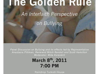 The Golden Rule - An Interfaith Panel Discussion on Bullying