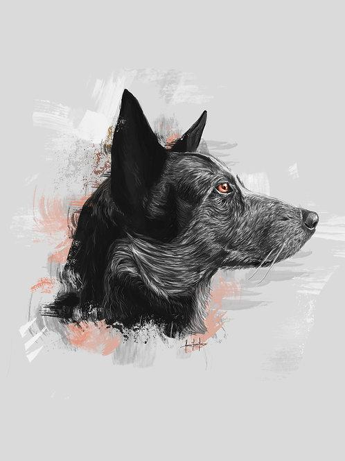 Retrato personalizado de mascota