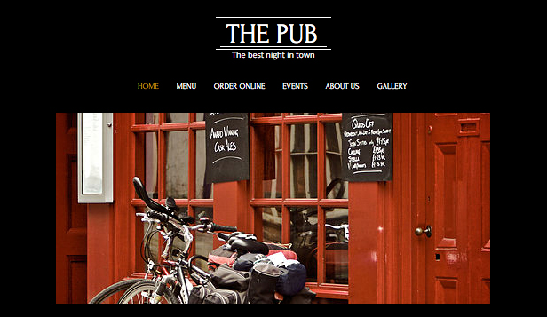 Bar i klub website templates – Pub i Bar