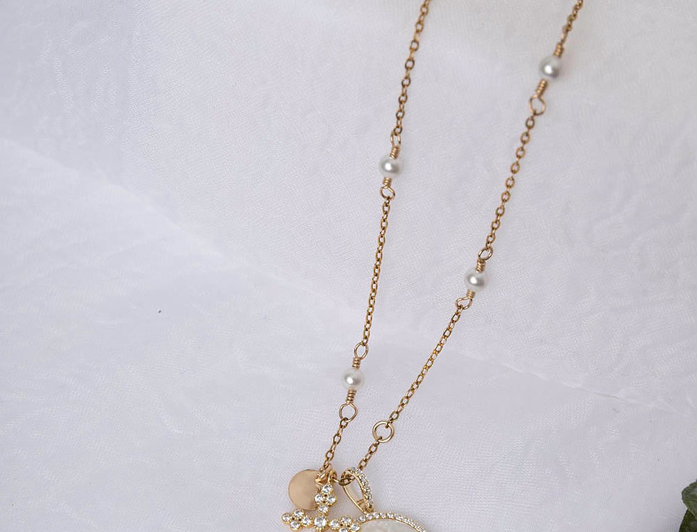 Dainty CZ Blessed Necklace