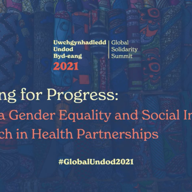 Pressing for Progress: Taking a GESI Approach in Health Partnerships | #GlobalUndod2021