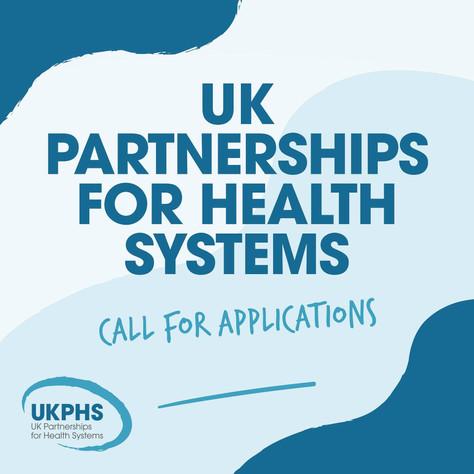 UKPHS Grant Scheme Deadline 12th May 2021