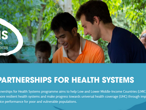 THET UK Partnerships for Health Systems program cancelled