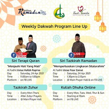 Masjid kassim Dakwah Programme Info Post
