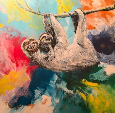 SlothMommyAndBaby_48x48