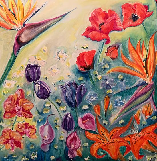 Flowers 24x24 oil