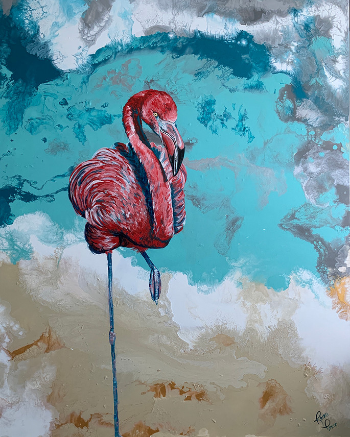 Single Flamingo