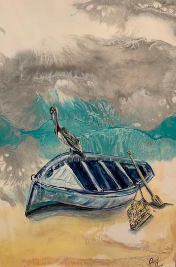 Crab Boat 18x36