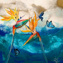 Birds of Paradise and Butterflies