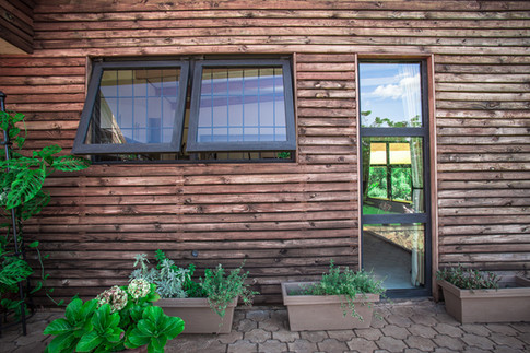 Timber clad facade detail