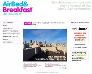 Primera versión de la plataforma Airbnb