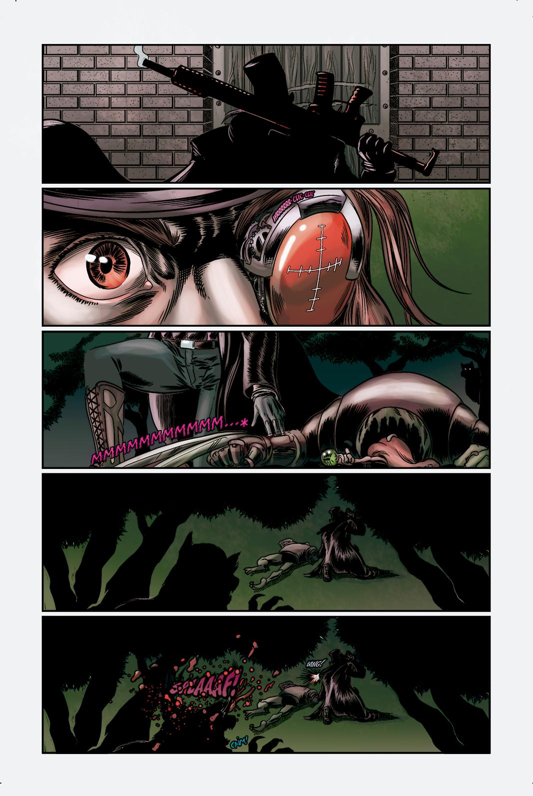"""Página 3 de """"O Nobre e o Rifle"""", da antologia RANCHO DO CORVO DOURADO, de 2019. Linhas e colorização"""