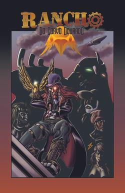 Capa da antologia RANCHO DO CORVO DOURADO