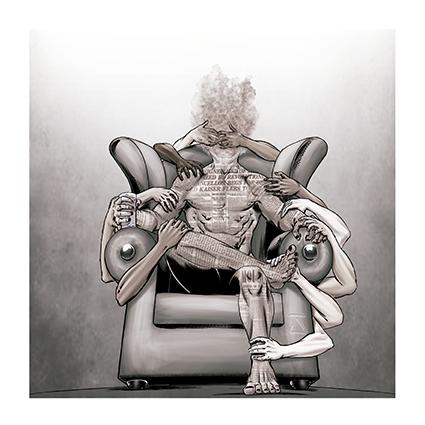 """Arte do encarte da musica """"Me segue"""", do álbum """"Humanalisys"""" da banda de prog metal MENGROOVE"""
