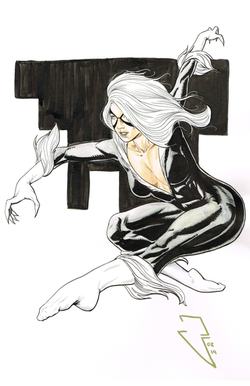 Black Cat - Watercolor, Copics and Ink