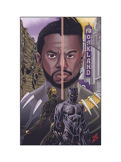 Black Panther 8,5In X 11In Print - Print Pantera Negra A4