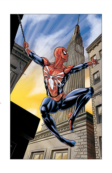 Spider Man 8,5In X 11In Print - Homem Aranha Print A4