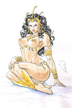 Dejah Thoris, Princess of Mars - Watercolor and Ink