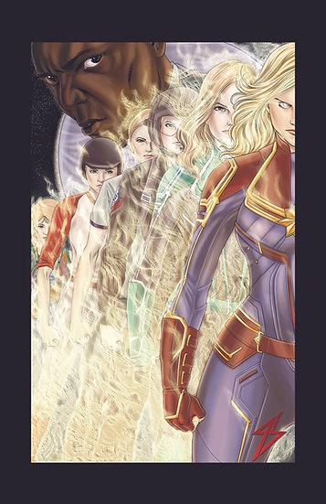 Captain Marvel 8,5In X 11In Print - Print Capitã Marvel A4