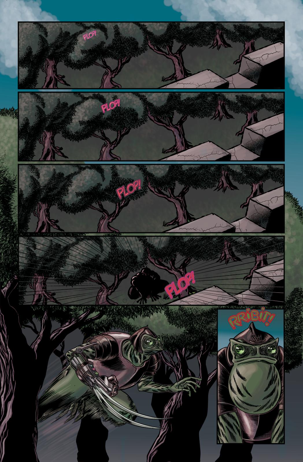 """Página 1 de """"O Nobre e o Rifle"""", da antologia RANCHO DO CORVO DOURADO, de 2019. Linhas e colorização"""