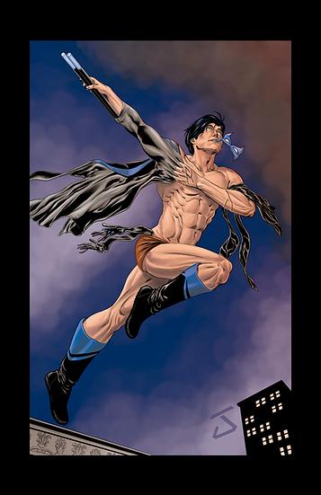 Nightwing 8,5 In X 11 In - Asa Noturna Print A4