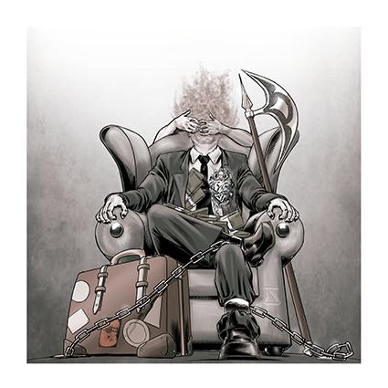 """Capa do álbum """"Humanalisys"""", da banda de prog metal MENGROOVE"""