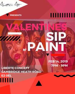 Annettes Art: Valentine Sip N' Paint