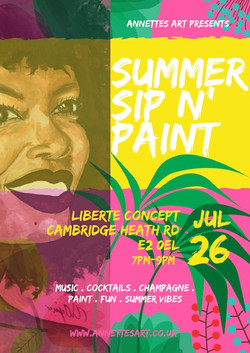 Annettes Art: Summer Sip N' Paint